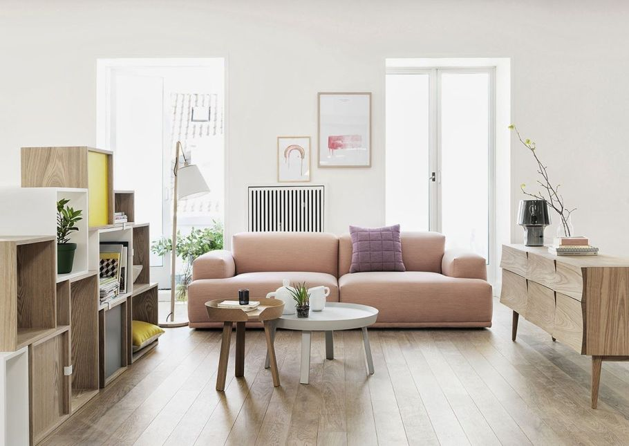 Scandinavian style mixed with feminine touch