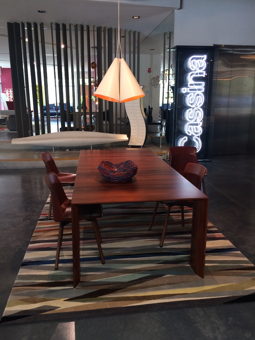 revolving chair lift covers walmart poltrona frau group showroom is an interior design delight