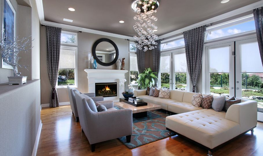 2 Story Living Room Curtains