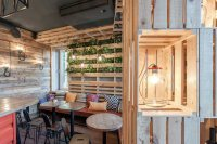 The Coffee Bar That Makes You Feel At Home Using Wine Crates