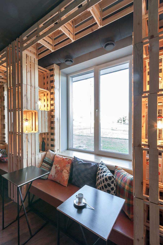 Penka coffee bar window bench nook