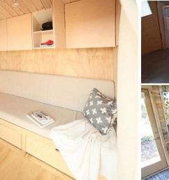 space saving furniture on tiny house on wheels [ 1210 x 652 Pixel ]