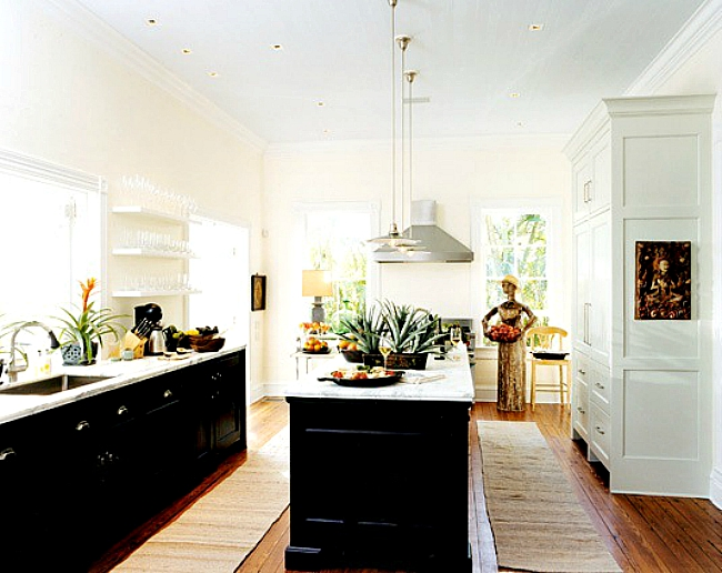 repainting kitchen cabinets black stools go halfsies in your with bi-colored