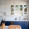 Go halfsies in your kitchen with bi colored cabinets reanimators