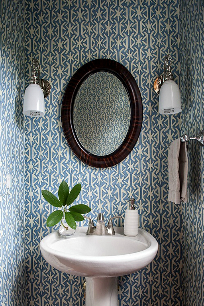 Powder Room Wallpaper Home Decorating Trends Homedit
