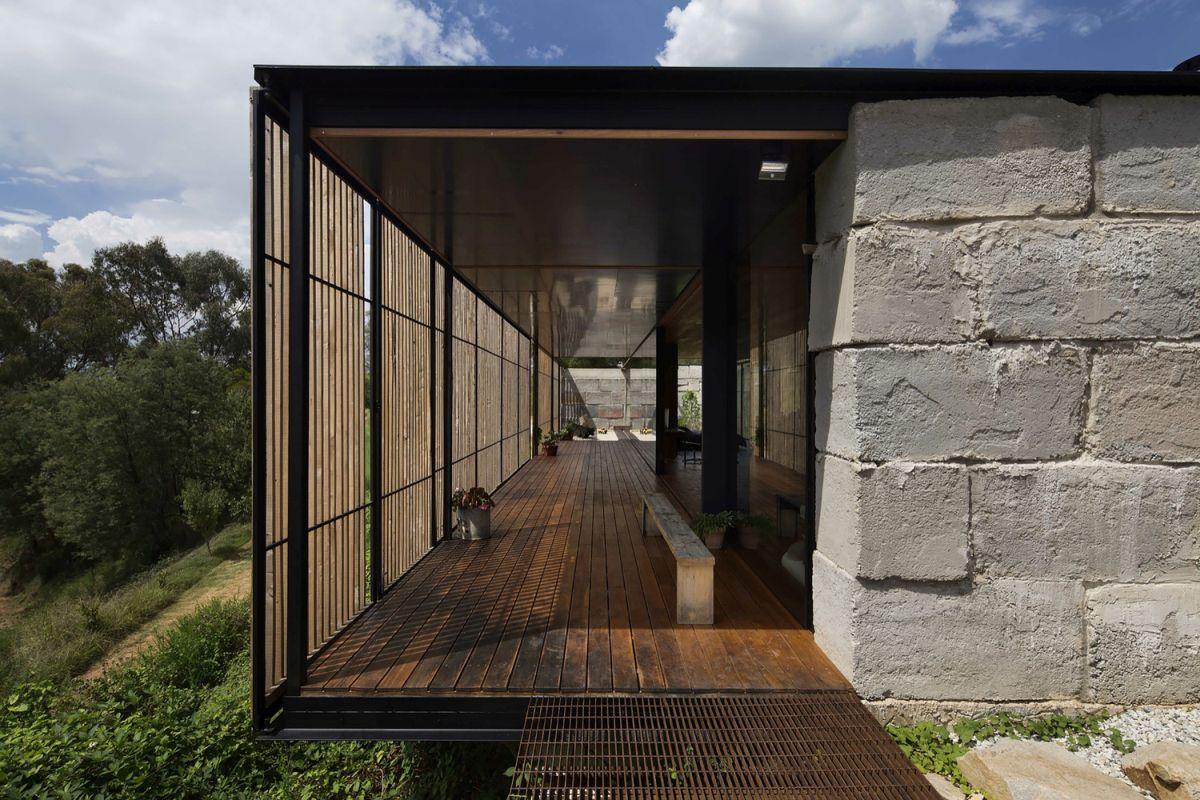 Innovative Family Home Built Of Reclaimed Concrete Blocks