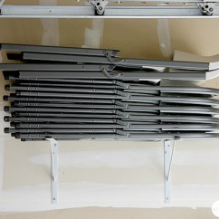Folding Chair Racks Diy Modern Wood Plans Storage Solutions For A Well Organized Garage Wall Chairs
