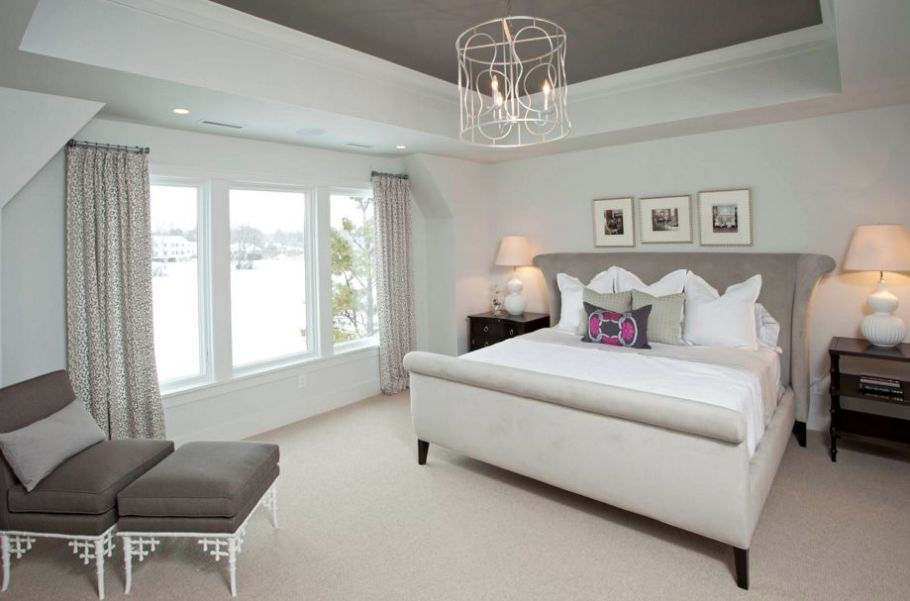 Contemporary Romance Taupe Color Bedroom