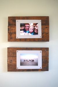 DIY Rustic Scrap Wood Picture Frames Spotlight Favorite Photos