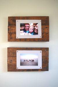 DIY Rustic Scrap Wood Picture Frames Spotlight Favorite Photos