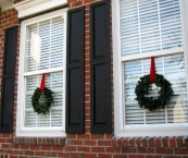 Window Wreaths Christmas Decorations