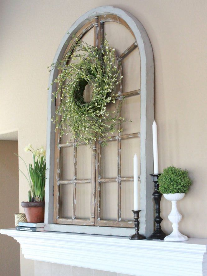 Exterior Best Wall Decor With Luring Diy Window Frame To Place Angelic Scenery Of Flower