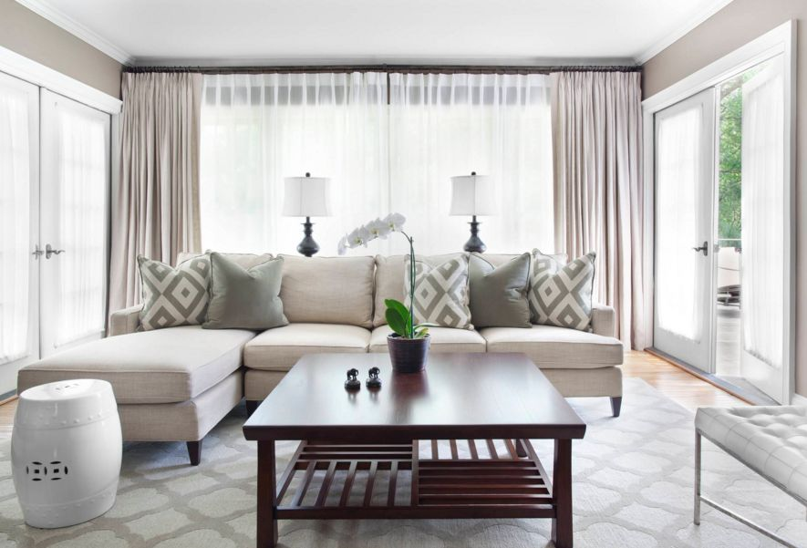 living room designs with grey walls best white paints for rooms using taupe to create a stylish, family-friendly