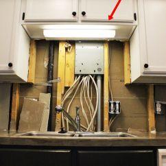 Over The Kitchen Sink Lighting Pull Out Drawers Diy Upgrade Led Under Cabinet Lights Above Light