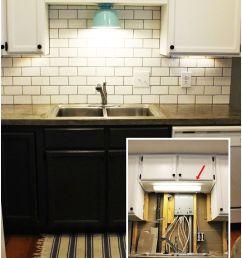 diy kitchen lighting upgrade led under cabinet lights above the sink light [ 1000 x 1600 Pixel ]
