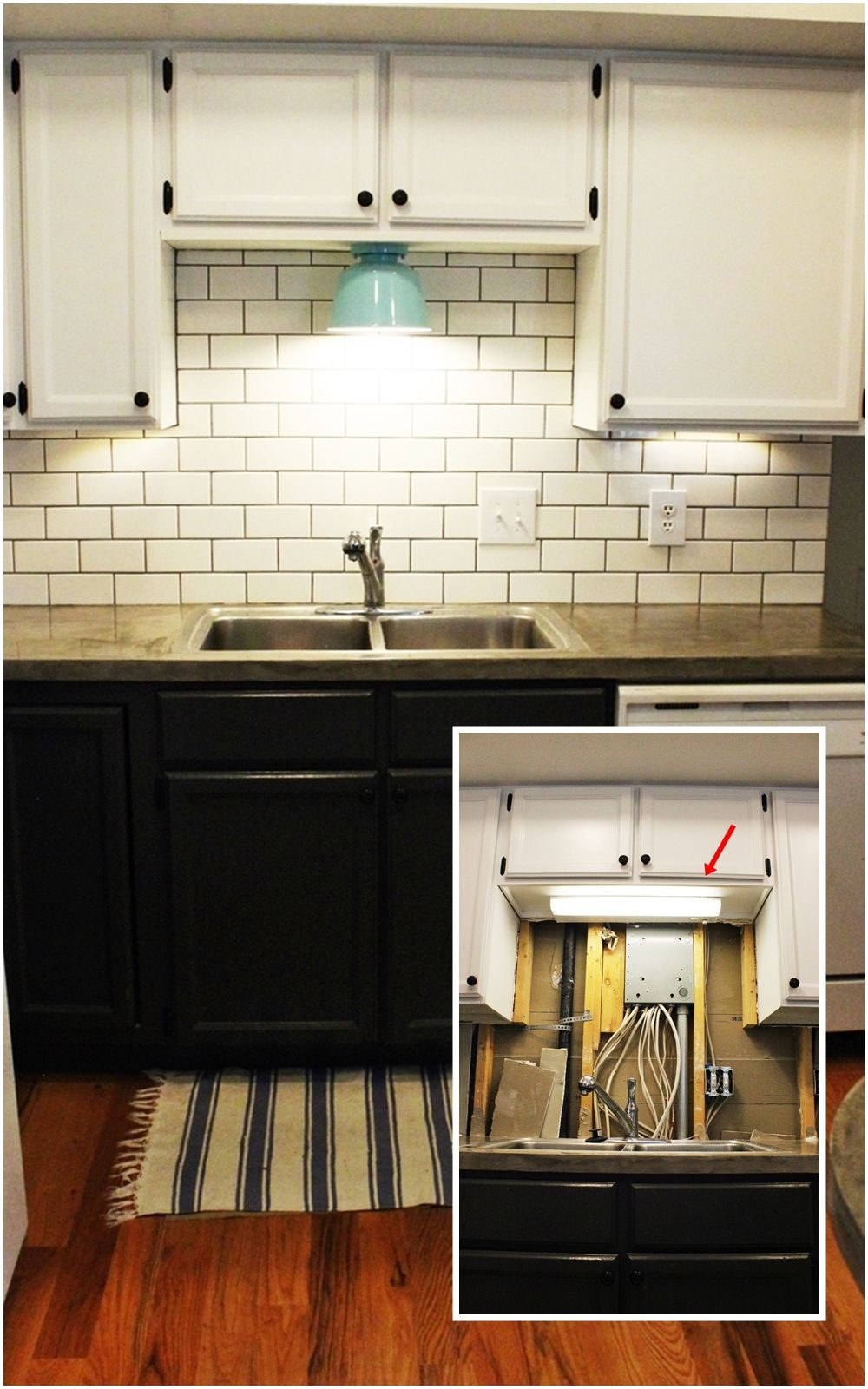 medium resolution of diy kitchen lighting upgrade led under cabinet lights above the sink light