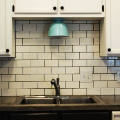 Installing Kitchen Backsplash White Oak Cabinets How To Install A Subway Tile