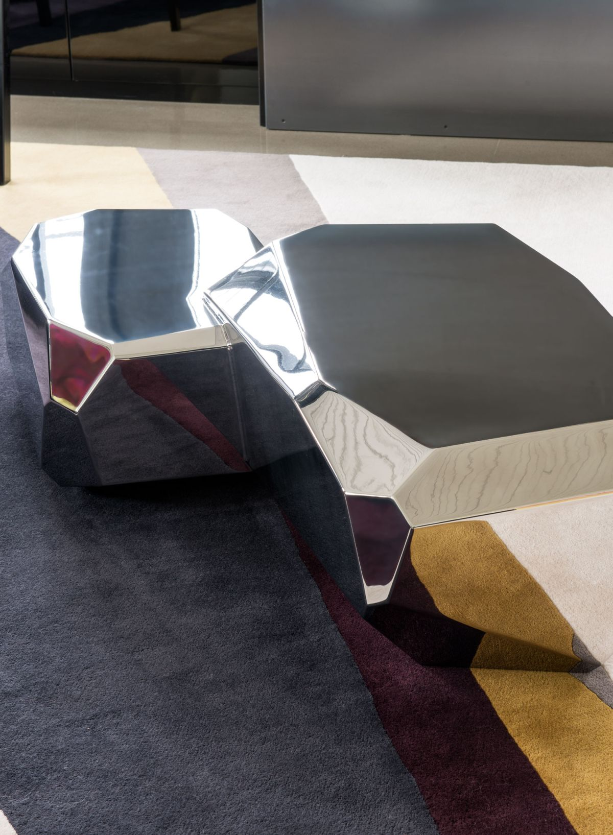 Redpath residence living area angular tables