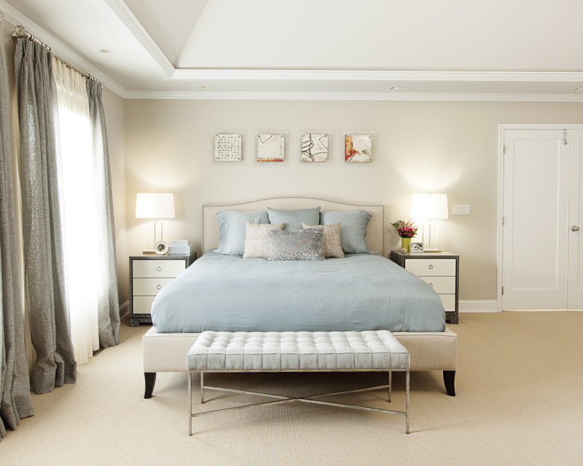 Smooth and sweet bedroom taupe design
