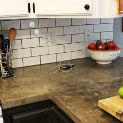 Kitchen Tile Countertops Best Off White Color For Cabinets How To Install A Subway Backsplash