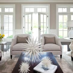 Decorating Living Room Walls With Family Photos Sofa Pictures Using Taupe To Create A Stylish Friendly 1 Ample Seating