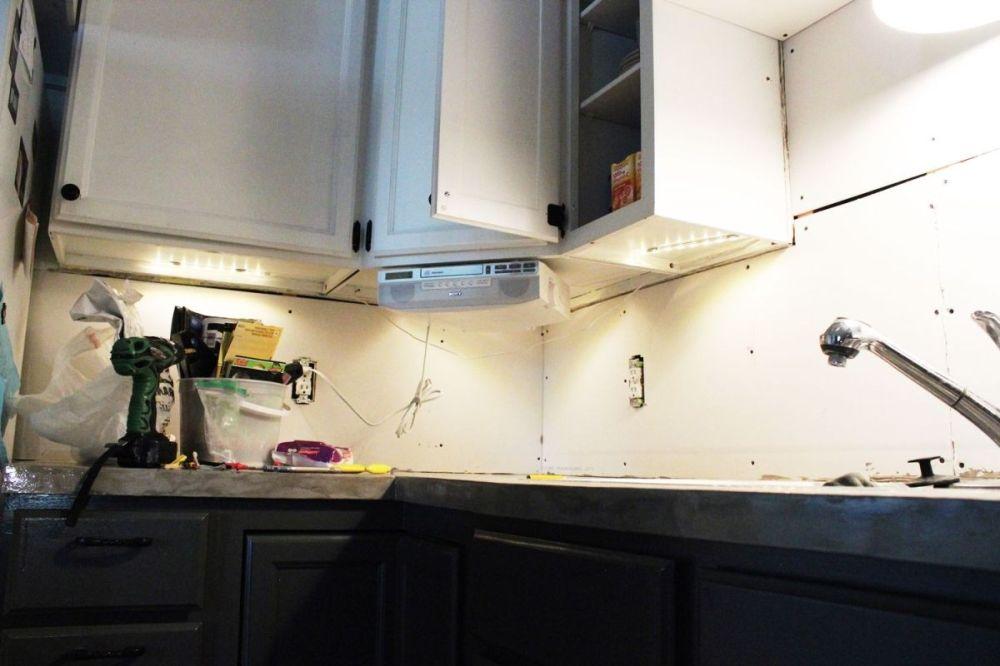 medium resolution of three leds under the corner cabinet