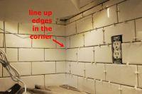 Tiling A Backsplash Inside Corner