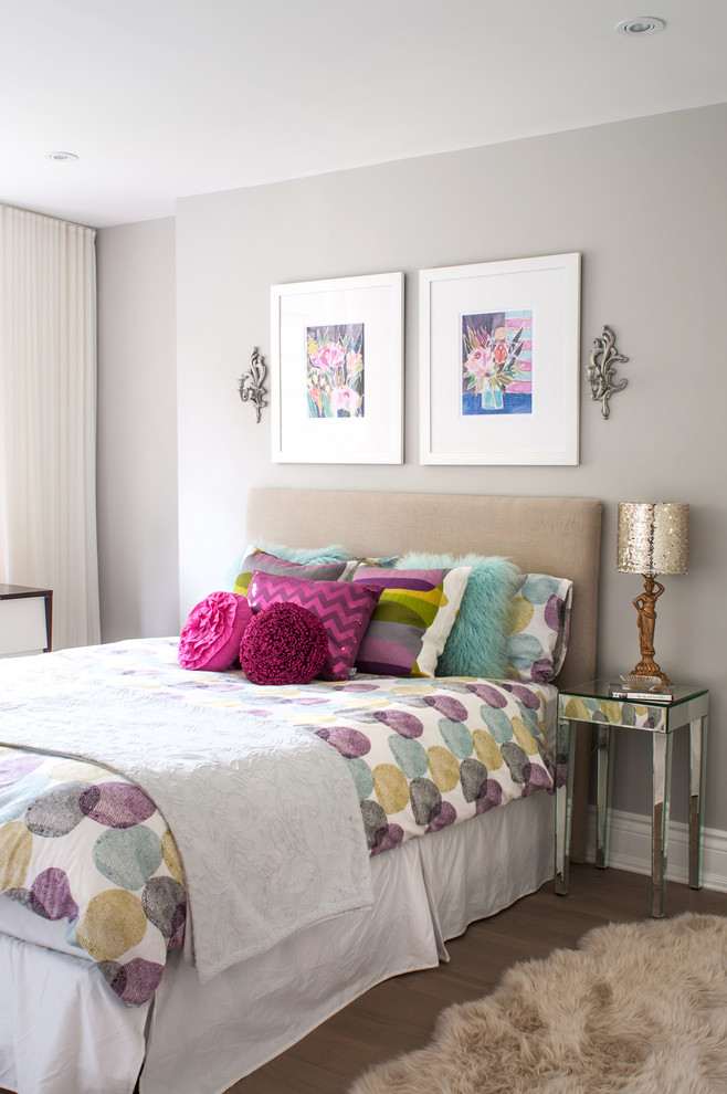 Youthful Romance Taupe Bedroom