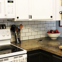 Backsplashes Kitchen Cleaning Supplies How To Install A Subway Tile Backsplash