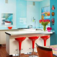 Colorful Kitchen Cabinets Pendant Lighting Fixtures 20 Awesome Color Schemes For A Modern Aqua And Red