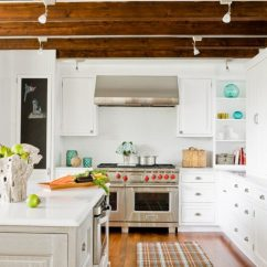Wooden Kitchen Plate Rack Cabinet Floors Beautiful With Exposed Roof Beams - Home ...