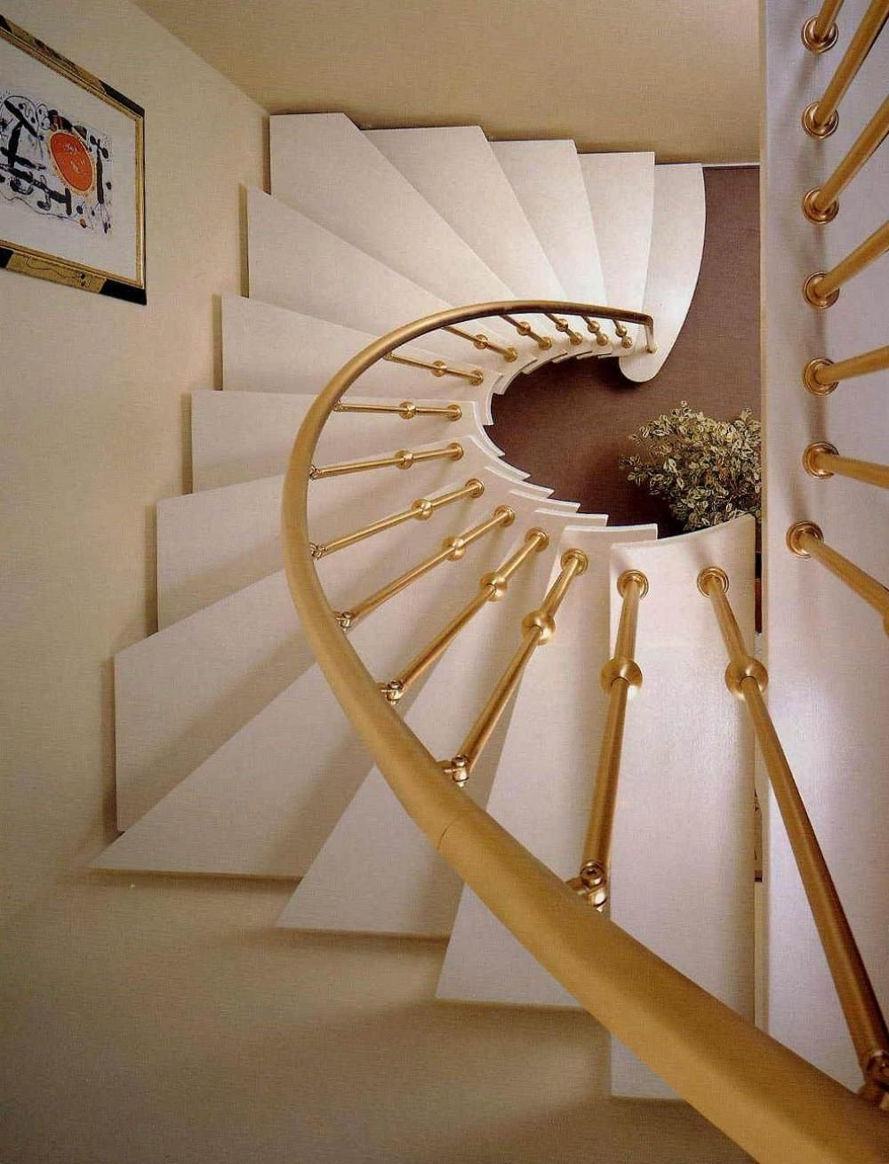 40 Breathtaking Spiral Staircases To Dream About Having In Your Home | Semi Spiral Staircase Design | Handrail | Inside | Semi Circular | Elegant | Residential Library
