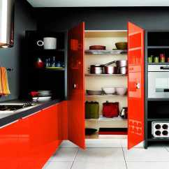 Kitchen Cabinets Color Marble Table Set 20 Awesome Schemes For A Modern Poppy Orange And Ebony