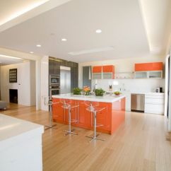 Orange Kitchen Chairs High End Faucet 20 Awesome Color Schemes For A Modern White And Scheme