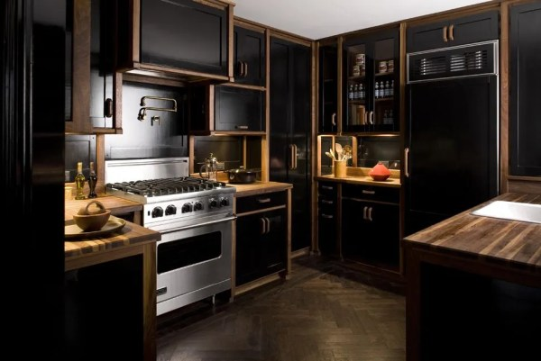 black and white wood kitchen design ideas 20 Black Kitchens That Will Change Your Mind About Using