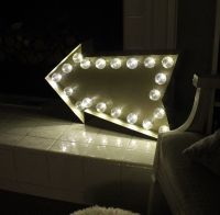 DIY Marquee Sign with LED Globe Lights