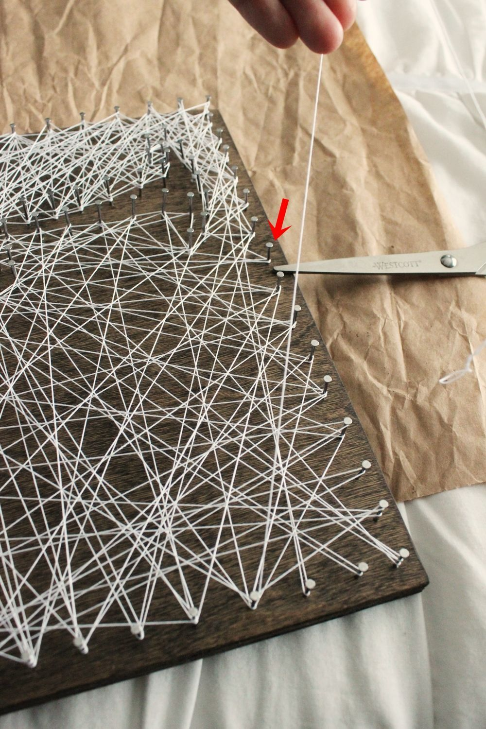 Diy String Art Tree Check Your Perimeter Nails