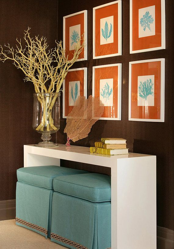Brown And Blue Family Room Decor