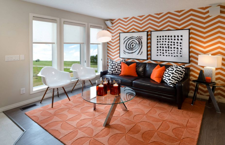 orange living room decorating ideas red leather couch accent walls in 20 12 punchchris de fall into accents for all styles rh homedit com burnt wall