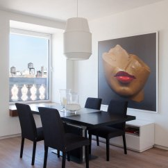 Art For Large Living Room Wall Modern Wooden Sofa Set Designs How To Add The Wow Factor Through Dining With A Beauitful Portrait