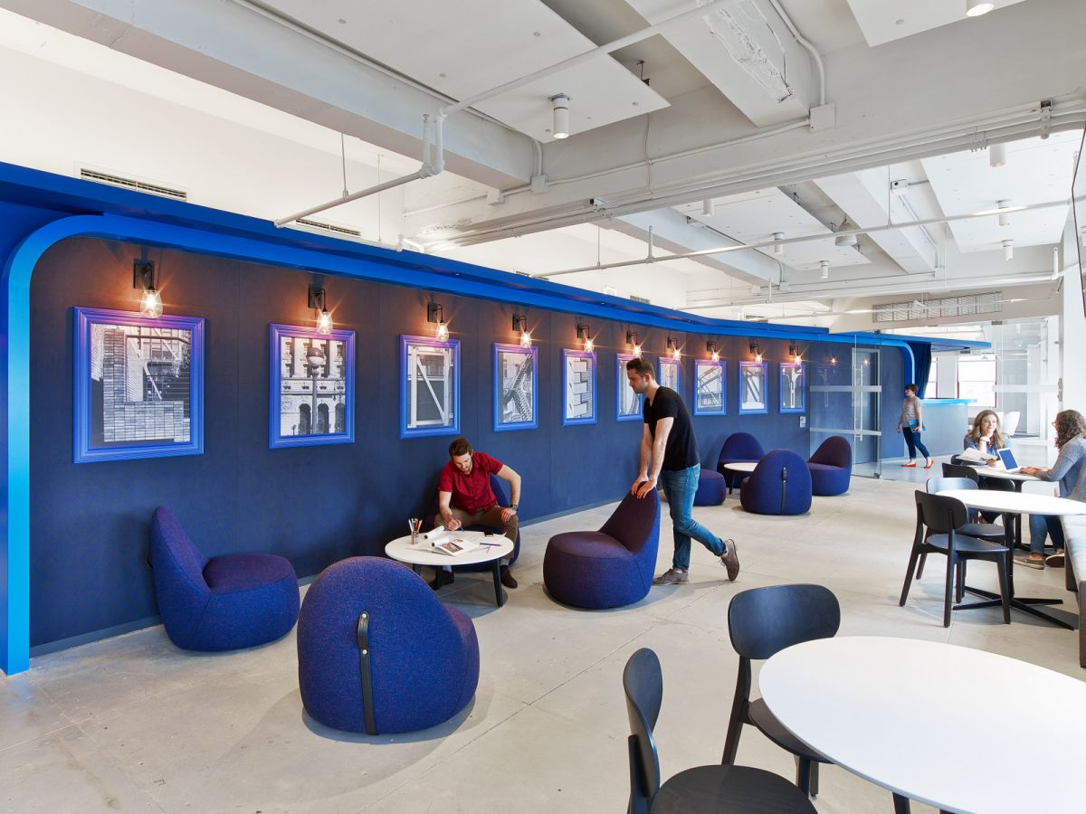 LinkedIns New York Office Stays Chic Without Using Cliches