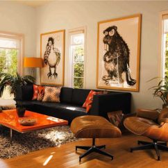 Grey Upholstered Chair White Legs Yellow Adirondack Fall Into Orange: Living Room Accents For All Styles