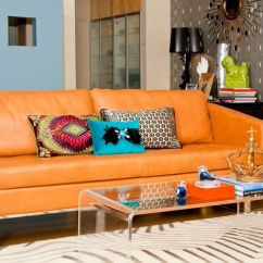 Brown And Orange Living Room Light Fall Into Accents For All Styles Leather Sofa