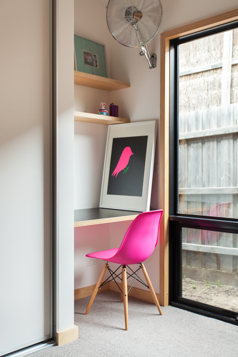neon pink chair vintage oak dining chairs pops of in every room yes obsigen eames moulded