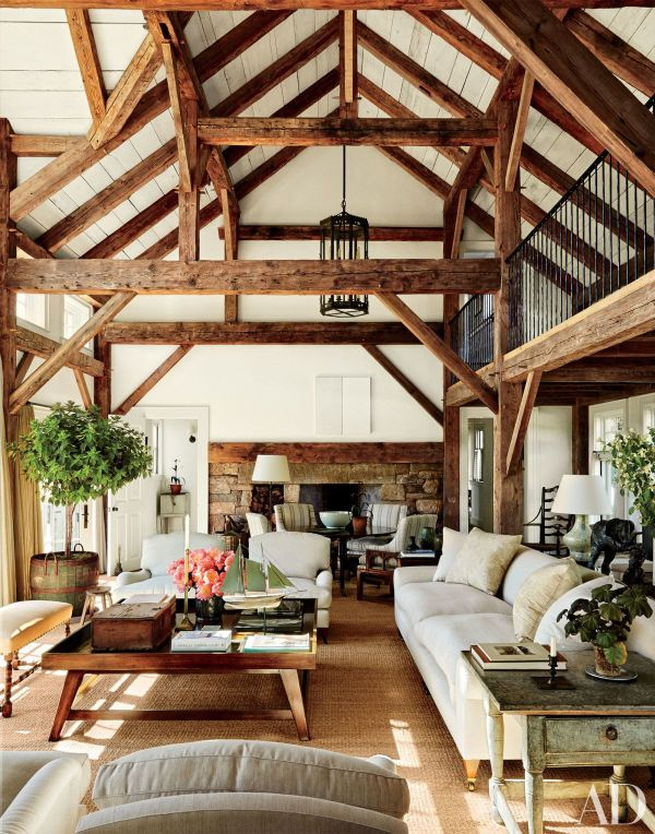 Houses with Wood Ceiling Beams