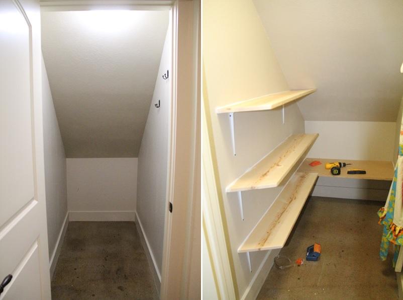 best way organize closet under stairs