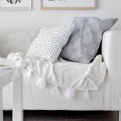 Dog Cover For Sofa Console Tables Diy Easy Pom-pom Blanket