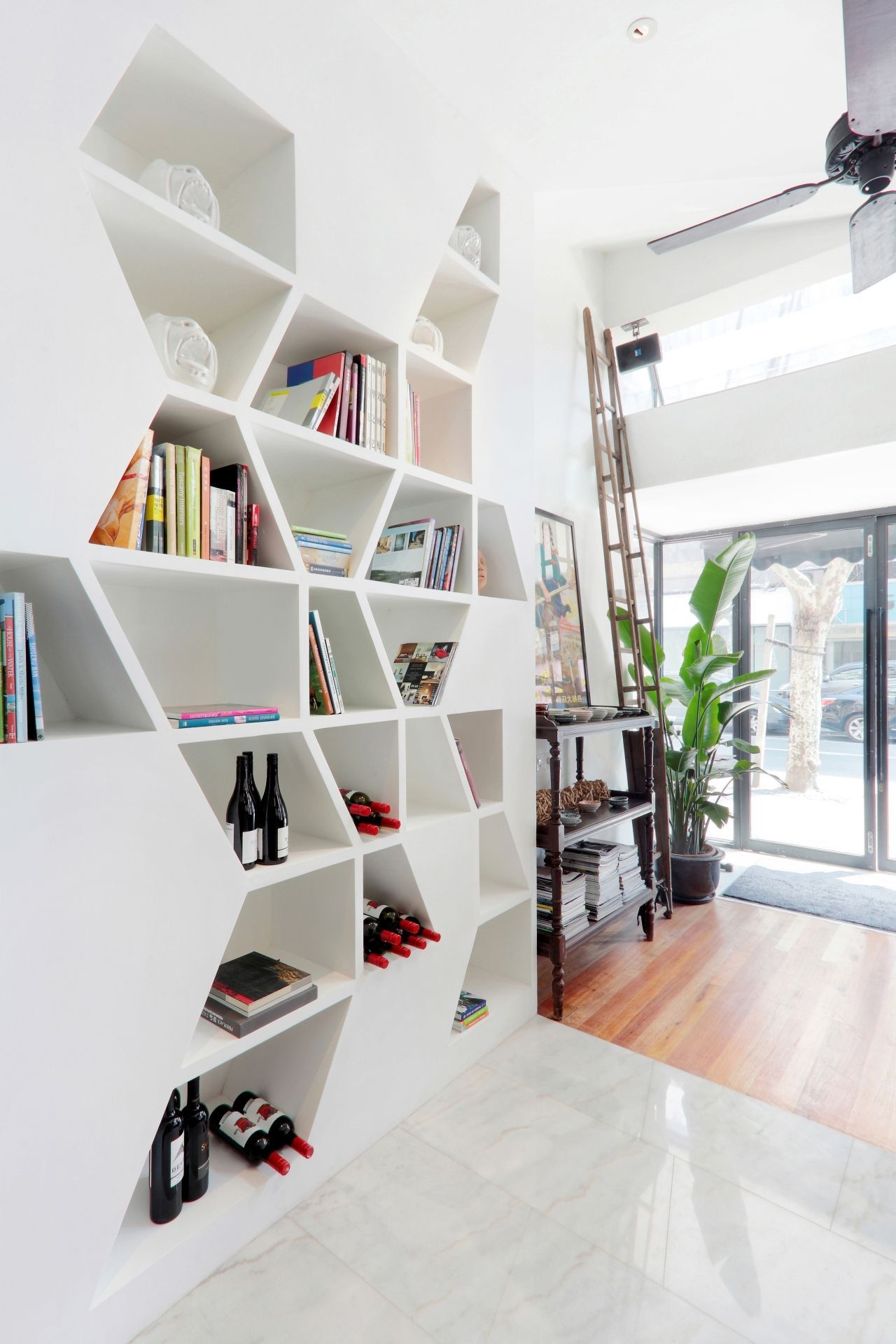 Putting A Creative Spin On The Classical Bookcase Concept
