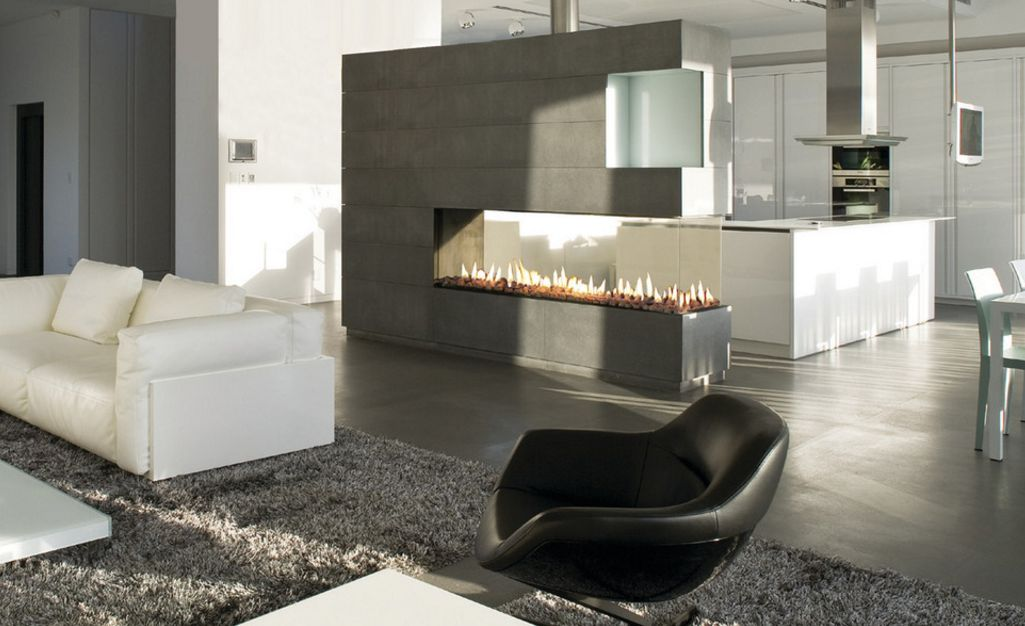 How To Design Around A Central Fireplace So Everything Is