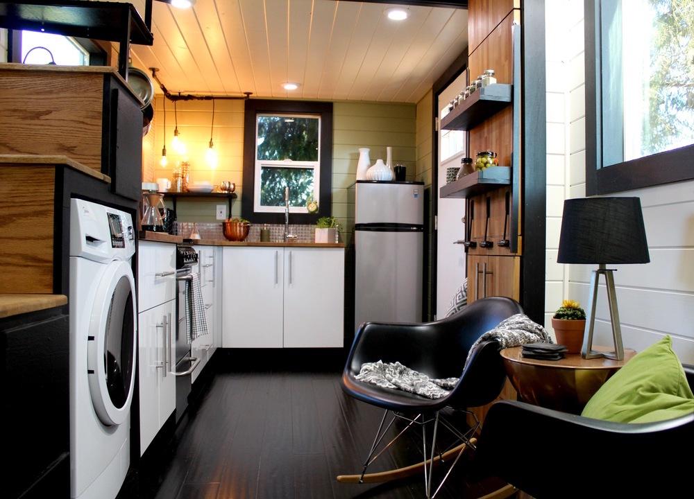 kitchen sliding baskets sink vent innovative storage key in a tiny house floor plan